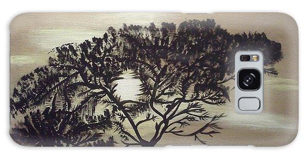 Black Silhouette Tree Galaxy Case