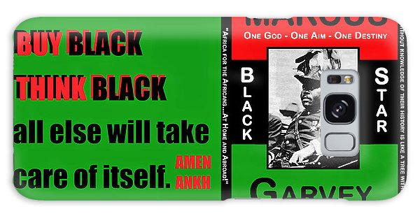 Black Star Garvey Galaxy Case