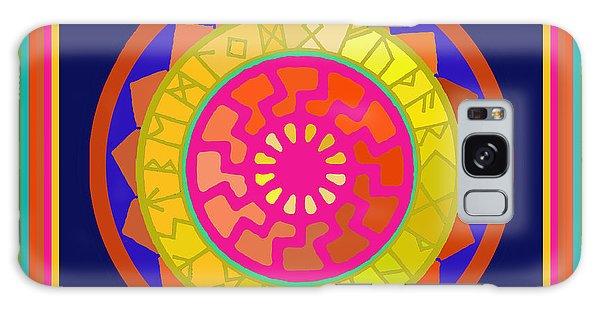 Black Sun Mandala Rune Calendar Galaxy Case