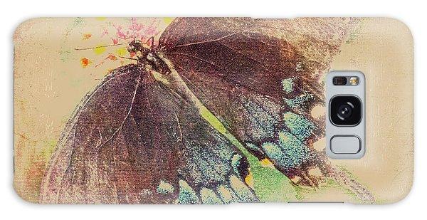 Black Swallowtail Butterfly Framed  Galaxy Case