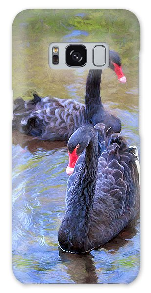 Black Swans Galaxy Case