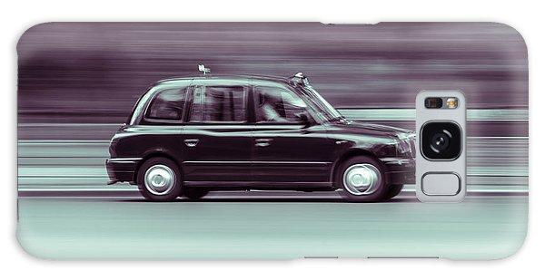 Black Taxi Bw Blur Galaxy Case
