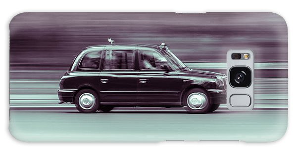 Black Taxi Bw Blur Galaxy Case