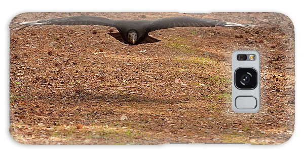 Black Vulture In Flight Galaxy Case by Chris Flees