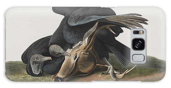 Carcass Galaxy Case - Black Vulture Or Carrion Crow by John James Audubon