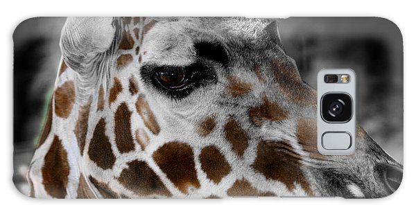 Black  White And Color Giraffe Galaxy Case