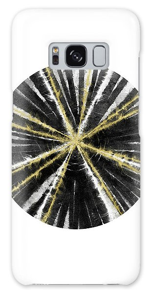 Round Galaxy Case - Black, White And Gold Ball- Art By Linda Woods by Linda Woods