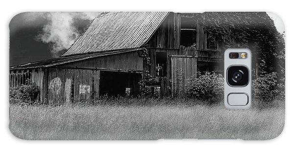 Galaxy Case - Black White Barn by Elijah Knight