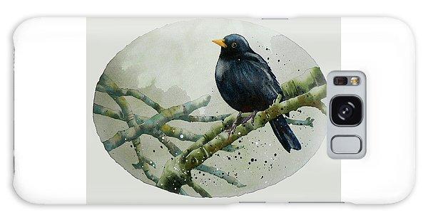 Blackbird Painting Galaxy Case