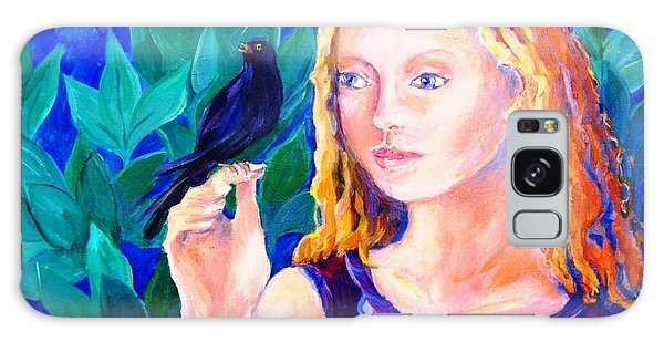 Blackbird Singing In The Dead Of Night  Galaxy Case by Trudi Doyle