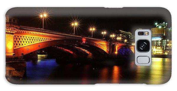 Blackfriars Bridge Illuminated In Orange Galaxy Case
