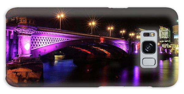Blackfriars Bridge Illuminated In Purple Galaxy Case