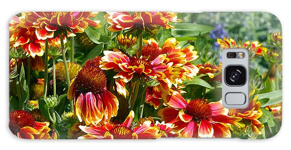 Blanket Flowers Galaxy Case by Sharon Talson