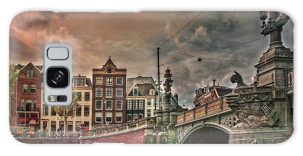 Galaxy Case featuring the photograph Blauwbrug -blue Bridge- by Hanny Heim