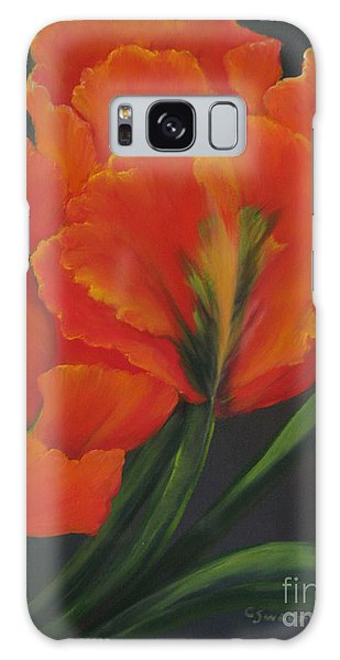 Blaze Of Glory Galaxy Case by Carol Sweetwood
