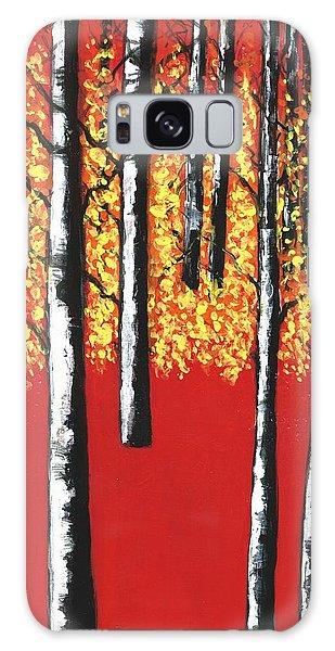 Blazing Birches Galaxy Case