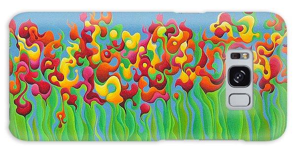 Blazing Blossom Bash Galaxy Case