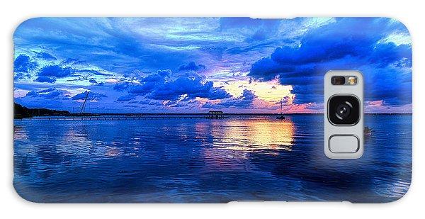 Blazing Blue Sunset Galaxy Case