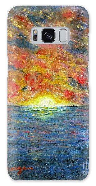 Blazing Glory Galaxy Case by Laurie Morgan