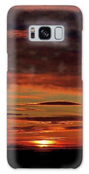 Blazing Sunset Galaxy Case