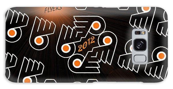 Bleeding Orange And Black - Flyers Galaxy Case