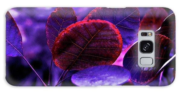 Bleeding Violet Smoke Bush Leaves - Pantone Violet Ec Galaxy Case