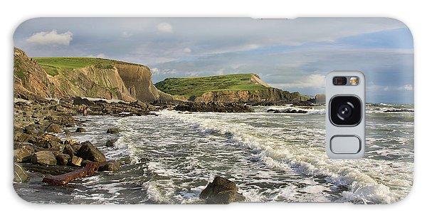 Blegberry Beach In North Devon Galaxy Case