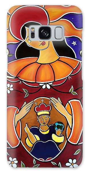 Galaxy Case featuring the painting Blessed Is The Fruit Of Thy Womb by Jan Oliver-Schultz