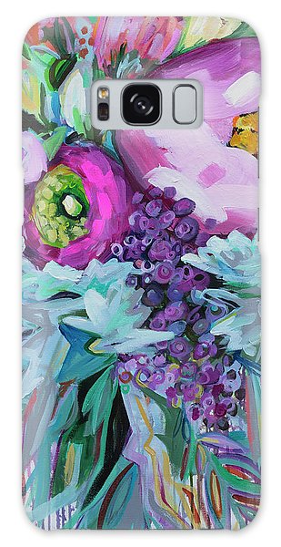 Pink Flower Galaxy Case - Blessings Come From Raindrops by Kristin Whitney