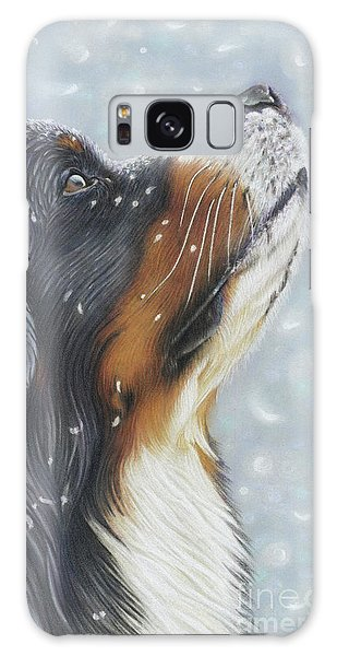 Galaxy Case featuring the painting Blissful Blue  by Donna Mulley