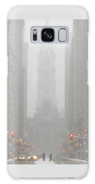 Snow In The City Galaxy Case by Christopher Woods