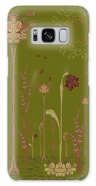 Blob Flower Garden Full View Galaxy Case