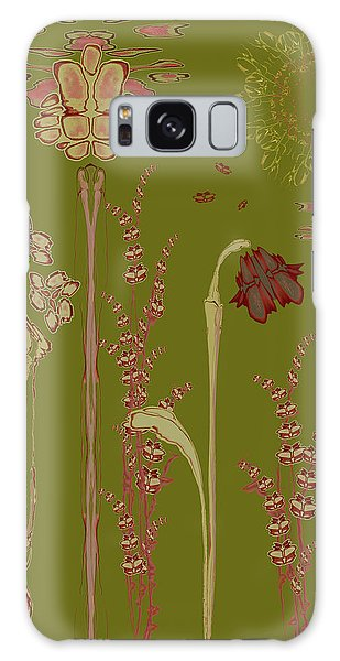 Blob Flower Garden Galaxy Case