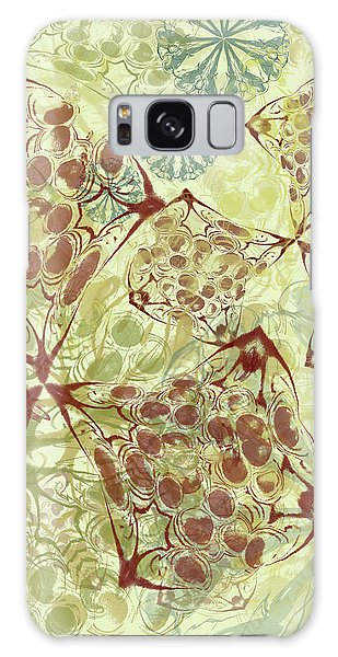 Blob Flower Painting #1 Pale Yellow Galaxy Case