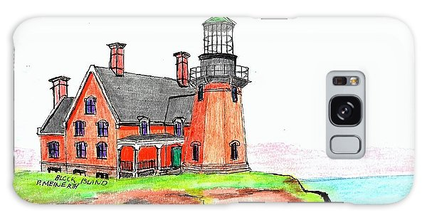 Block Island South Lighthouse Galaxy Case