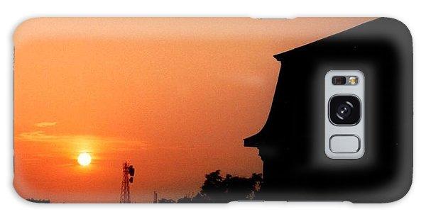 Block Island Sunset Galaxy Case