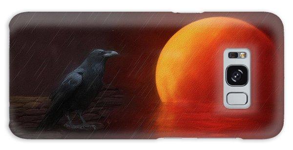 Blood Moon Crow Galaxy Case