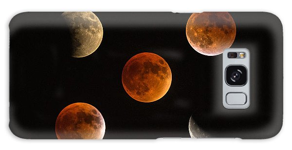Blood Moon Eclipse Compilation Galaxy Case