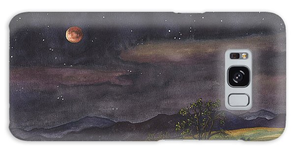 Blood Moon Over Boulder Galaxy Case