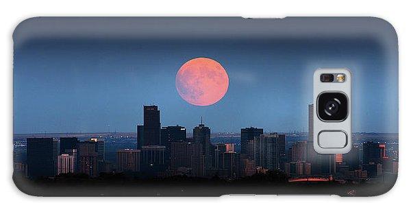 Blood Moon Over Denver Galaxy Case