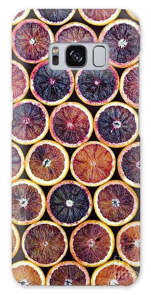 Blood Oranges Pattern Galaxy Case by Tim Gainey