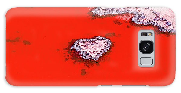 Blood Red Heart Reef Galaxy Case by Az Jackson