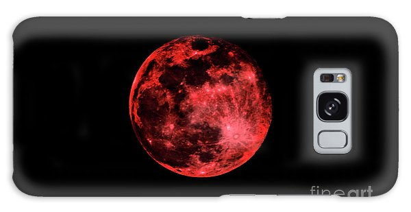 Blood Red Moonscape 3644b Galaxy Case