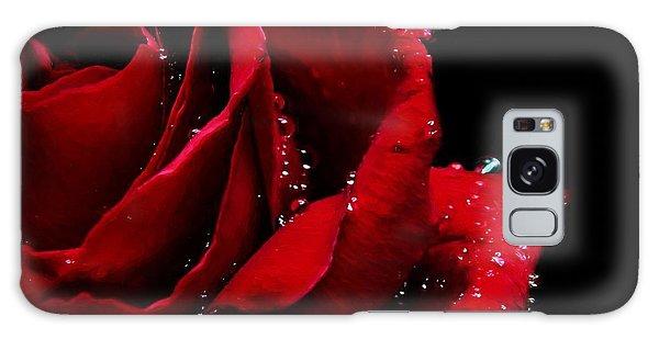 Blood Red Rose Galaxy Case