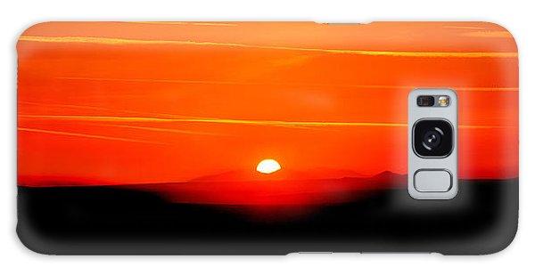 Beautiful Sunrise Galaxy Case - Blood Red Sunset by Az Jackson