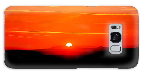 Blood Red Sunset Galaxy Case