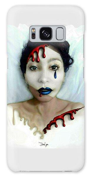 Galaxy Case featuring the digital art Blood Sweat Tears Faced by Doe-Lyn