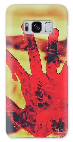 Zombies Galaxy Case - Bloody Halloween Palm Print by Jorgo Photography - Wall Art Gallery