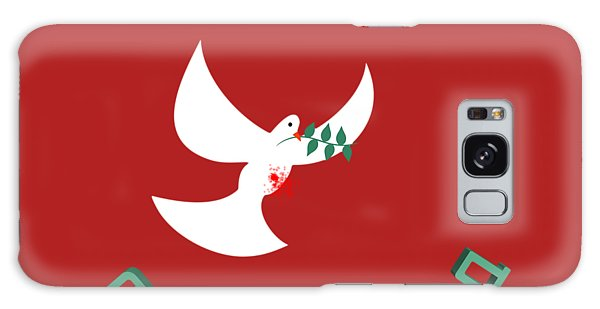 Olive Branch Galaxy Case - bloody peace Wounded dove symbol of peace  by Ilan Rosen