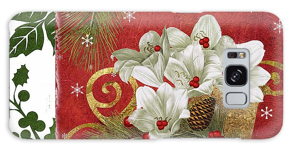Amaryllis Galaxy Case - Blooming Christmas II by Mindy Sommers
